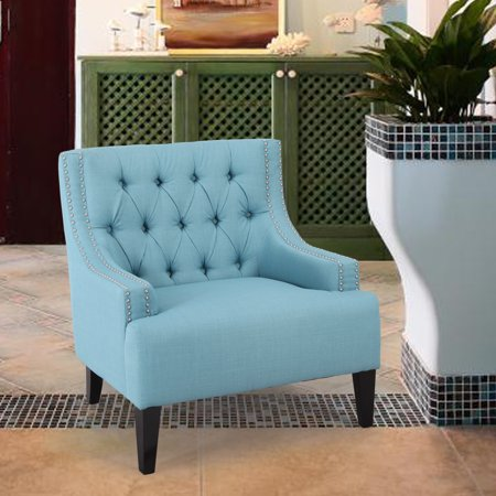Adeco Trading Classic Accent Chair Grey