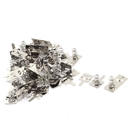 Connect Metal (Metal AA Battery Connecting Spring Contact Plate Terminal Silver Tone 18pcs)