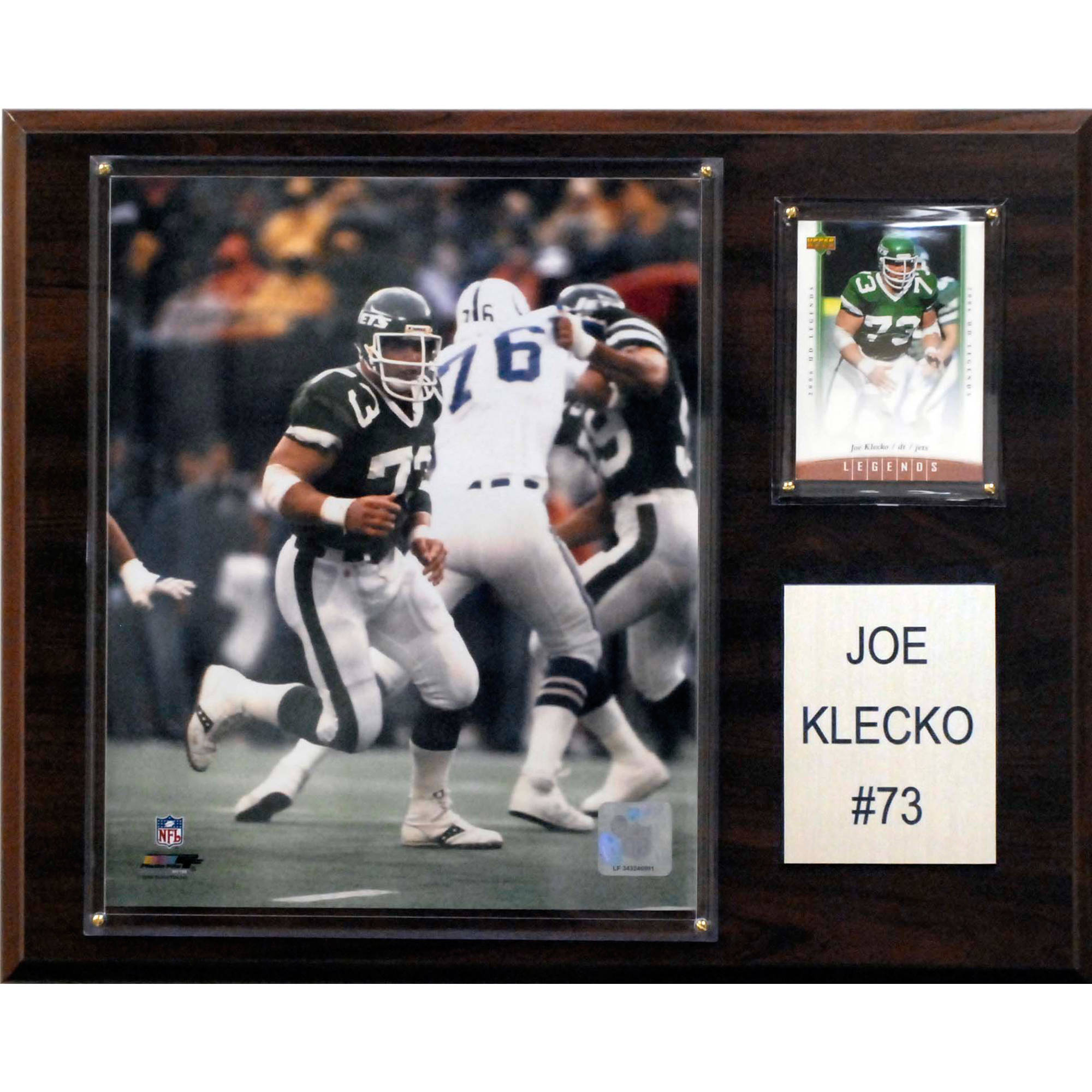 C&I Collectables NFL 12x15 Joe Klecko New York Jets Player Plaque