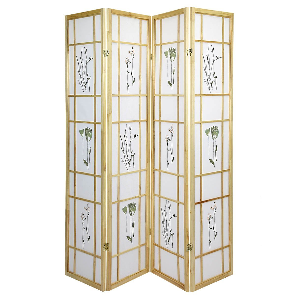 High Quality Oriental Room Divider Hardwood Shoji Screen ...