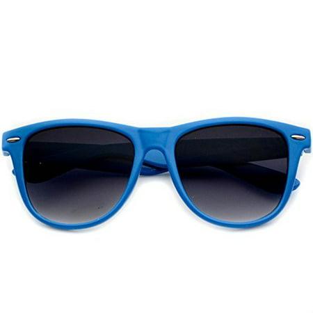 WearMe Pro - Hot Colorful Wayfarer Style Horn Rimmed Vintage Sunglasses