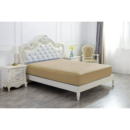 THE GREAT AMERICAN STORE TWIN 1 PC SOLID FITTED SHEET MATTRESS COVER 100% -