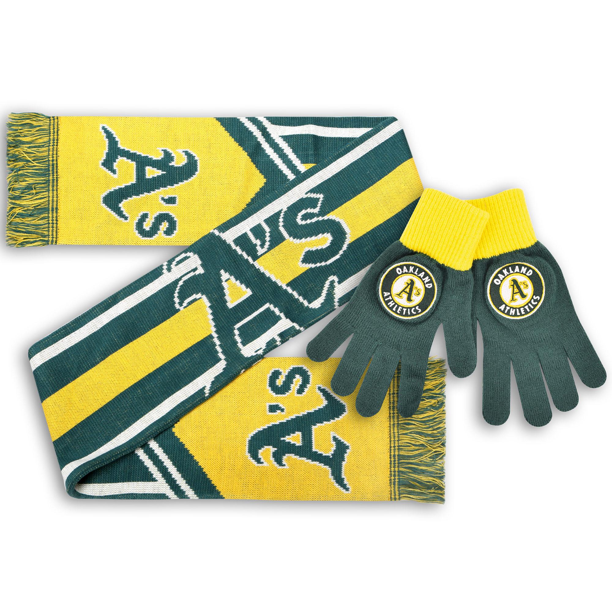 Oakland Athletics Knit Gloves and Scarf Set - No Size