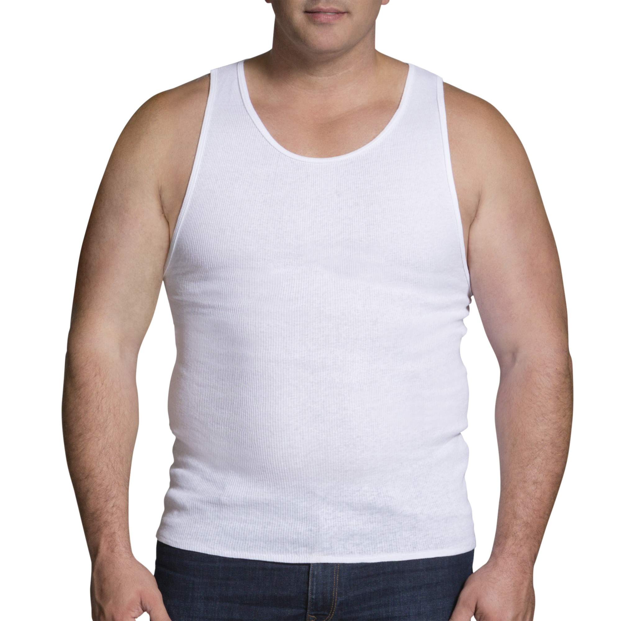 Fruit of the Loom Big Men's Collection White A-Shirts, 3-Pack