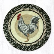 "Earth Rugs RP-430 Rooster Round Patch 27"" x 27"""
