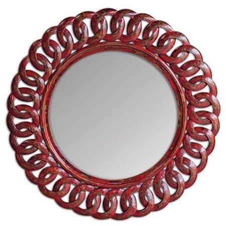 Uttermost Sassia Red Round Mirror