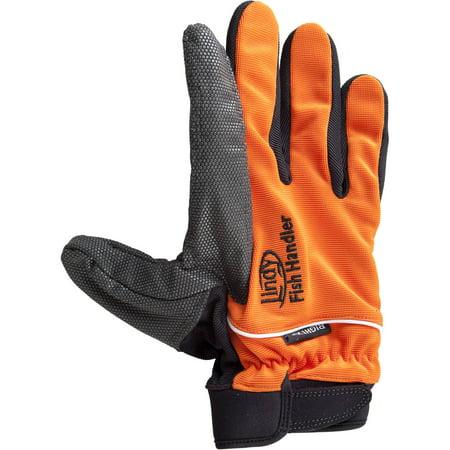 Lindy handling glove right hand xx large orange for Fishing gloves walmart