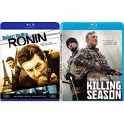 Killing Season & Ronin Robert De Niro John Travolta Blu Ray Set Gritty Double Feature by