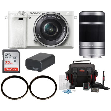 Sony Alpha a6000 Lens Camera with 16-50mm and 55-210mm Lens Bundle