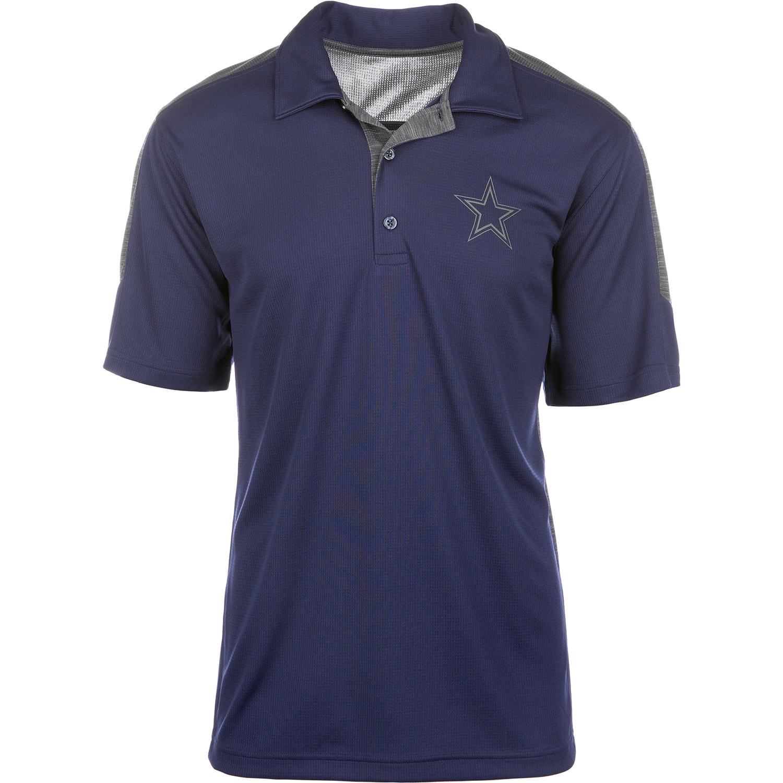 Men's Navy/Heathered Charcoal Dallas Cowboys Tagi Polo