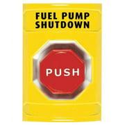 SAFETY TECHNOLOGY INTERNATIONAL SS-2205PS Fuel Pump Shutdown Push Button, Yellow