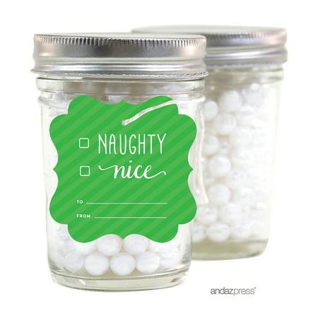 Naughty Nice  Christmas Fancy Frame Gift Tags, 24-Pack - Naughty And Nice Christmas Party
