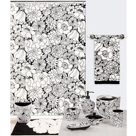 Creative Bath Black And White Shower Curtain
