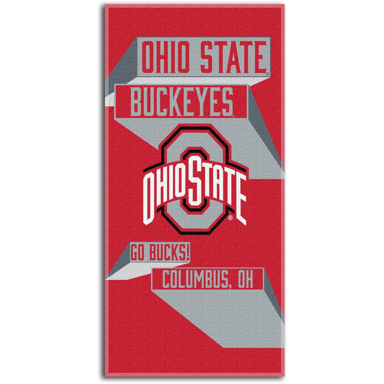 "NCAA ""Head Strong"" 30"" x 60"" Beach Towel, Ohio State Buckeyes"