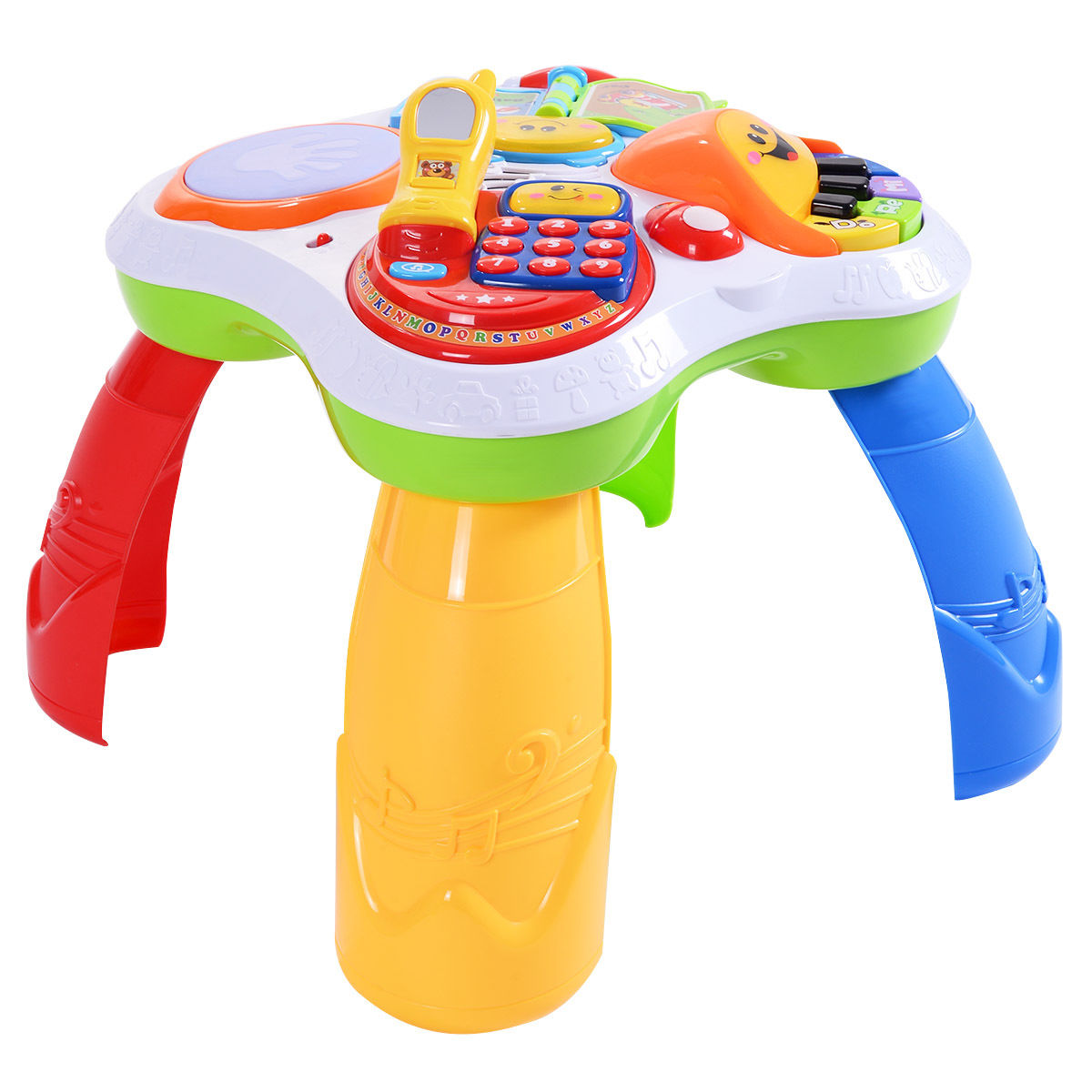 Costway Learning Table Fun Laugh And Learn Educational Toy Kids Toddler Activity Center