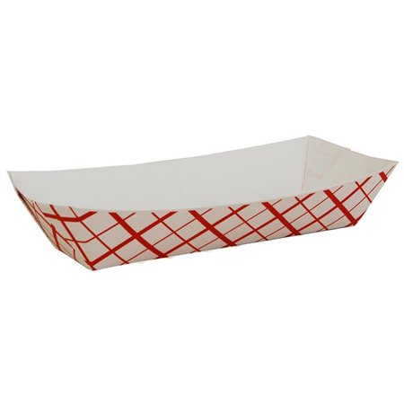 0 Hot Dog Tray Nested Paper, Red Check - Case of 1000](Hot Dog Paper Trays)