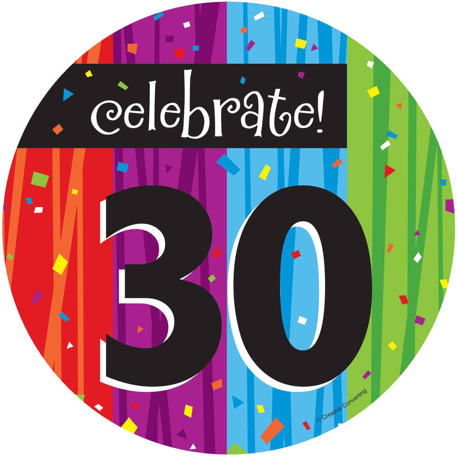 Milestone Celebrations 30th Birthday Dessert Plates, 8pk