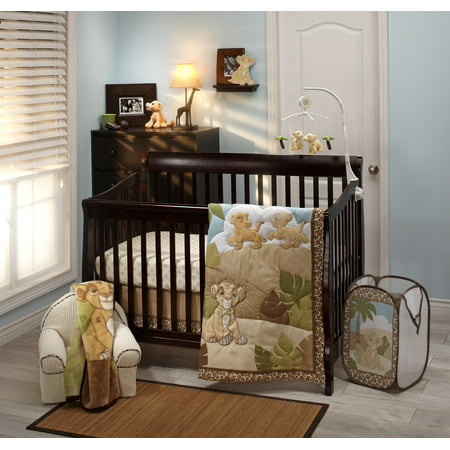 Disney Lion King Urban Jungle Piece Crib Bedding (Linen Crib Set)