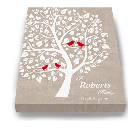 Wedding Anniversary Colors (MuralMax Couples Personalized Tree Canvas Wall Art - Gifts For Parents, Grandparents, Friends - Milestone Occasions, Bridal Showers, Wedding Anniversary, Housewarming - Color - Tan - Size 8 x)
