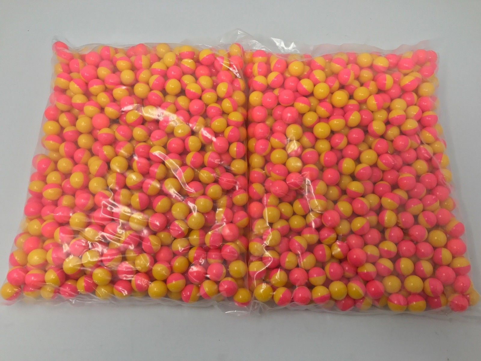 Pink Yellow .68 Caliber Paintballs Yellow Paint Filled New In Bag 1000   Order by