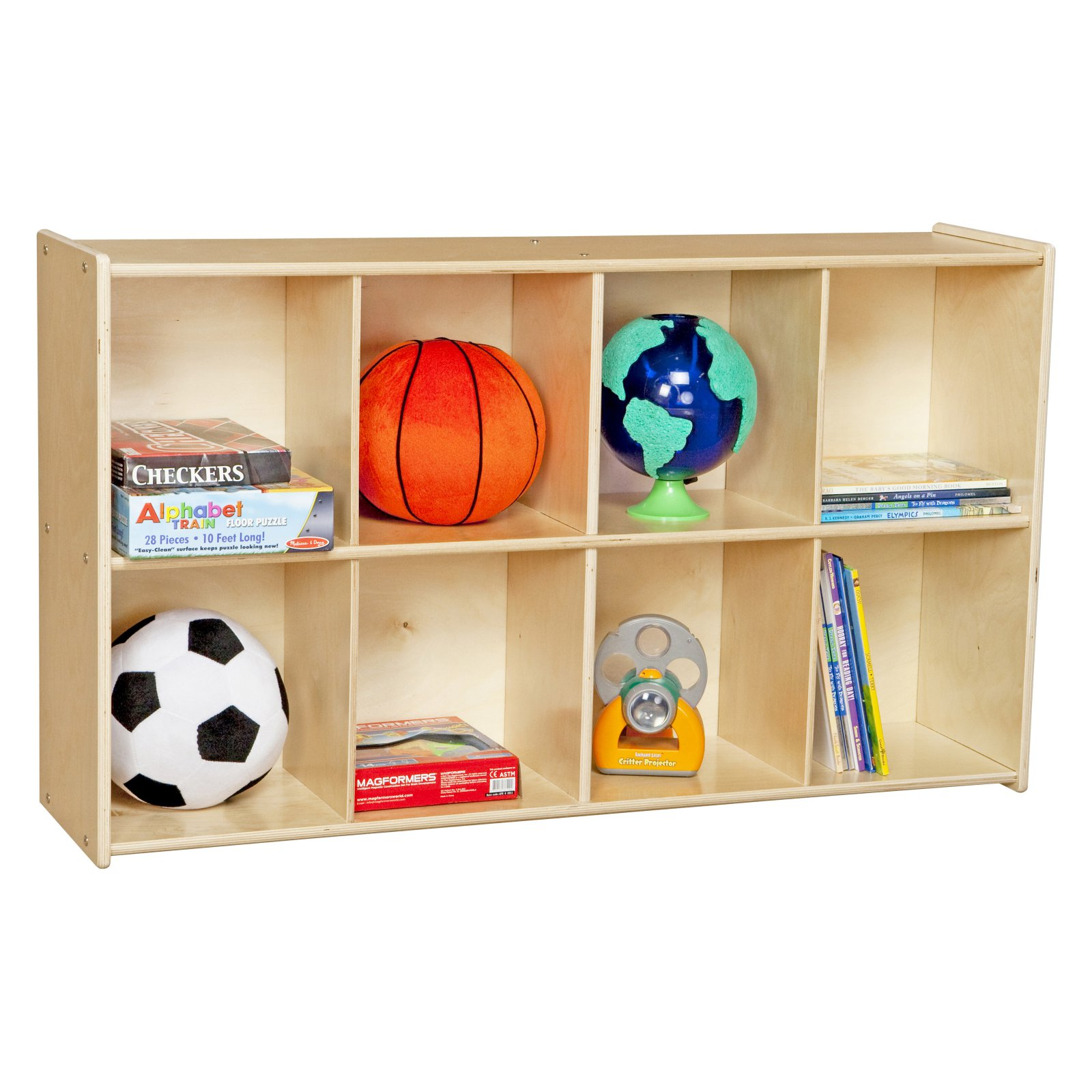 Wood Designs Contender Eight-Cubby Knapsack Storage