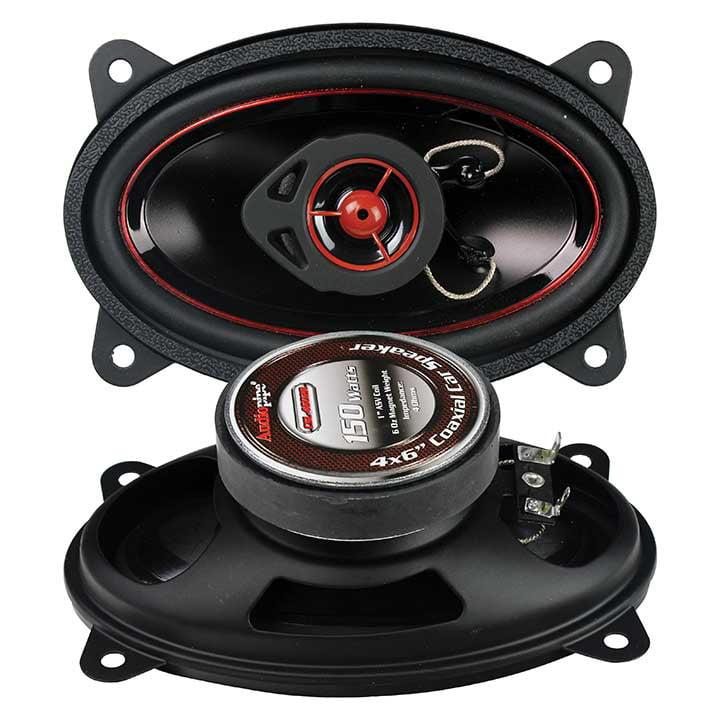 "AUDIOPIPE Redline Speaker 4X6"" 2-WAY (pair) 150 WATT PP CONE"