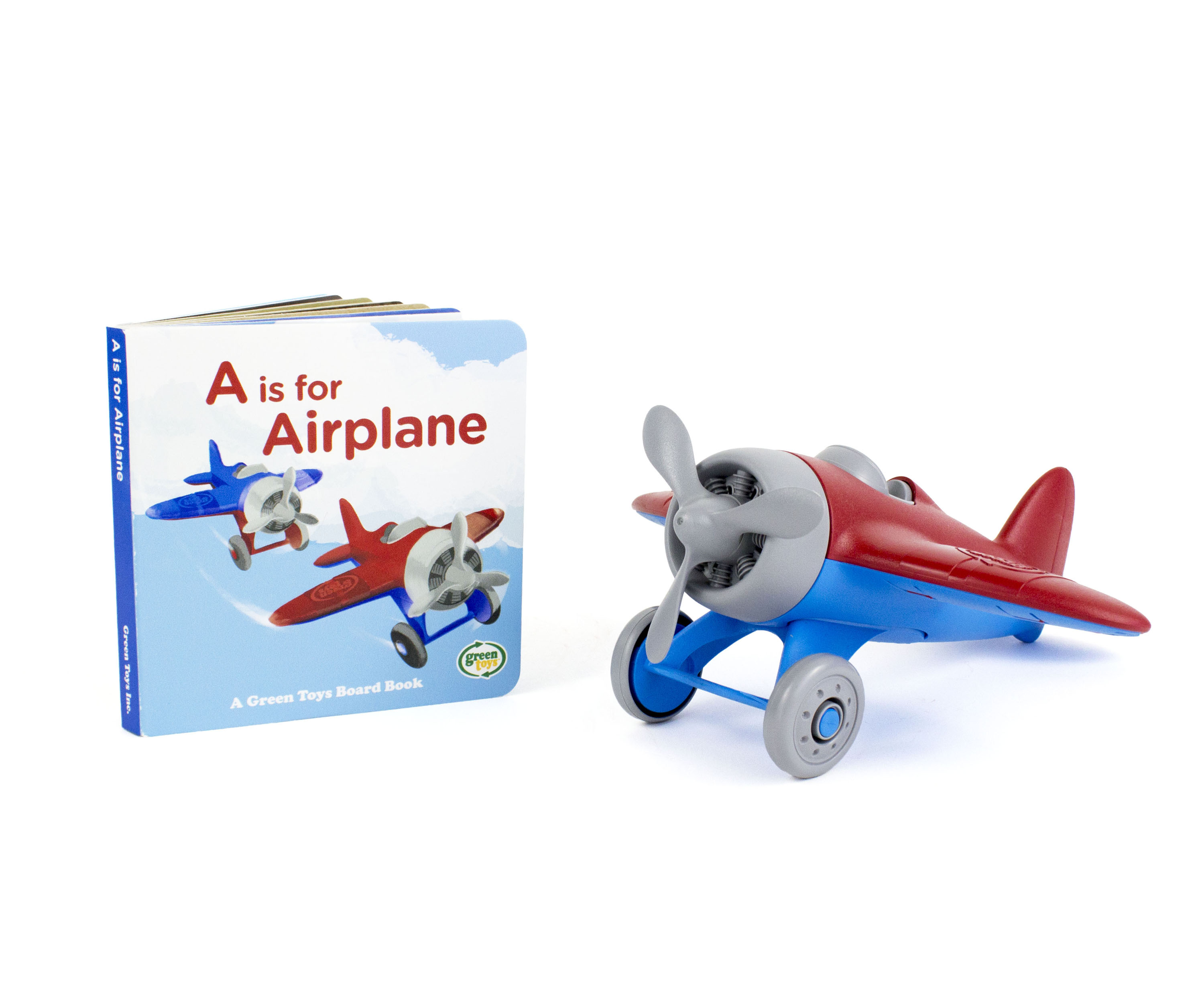 Green Toys Airplane & Board Book by Green Toys Inc