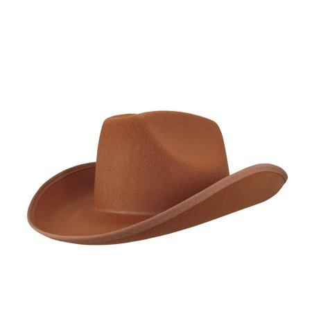 Country Brown Cow Boy or Girl Cow Boy Felt Costume Hat