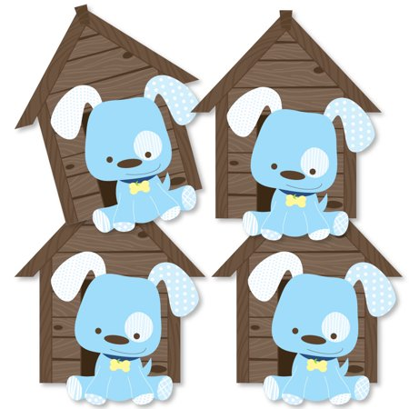 Boy Puppy Dog - Dog House Decorations DIY Baby Shower or Birthday Party Essentials - Set of - Puppy Dog Birthday Decorations