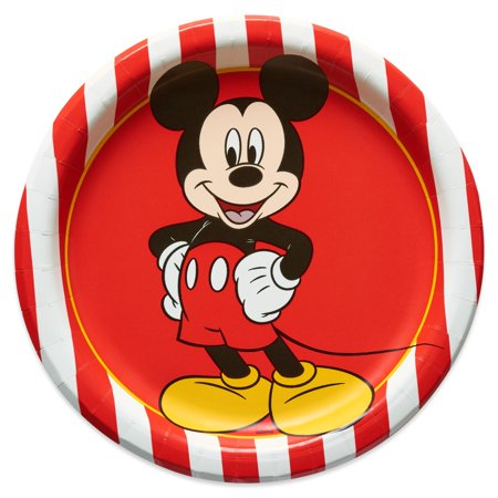 American Greetings Mickey Mouse Paper Dessert Plates, 8-Count