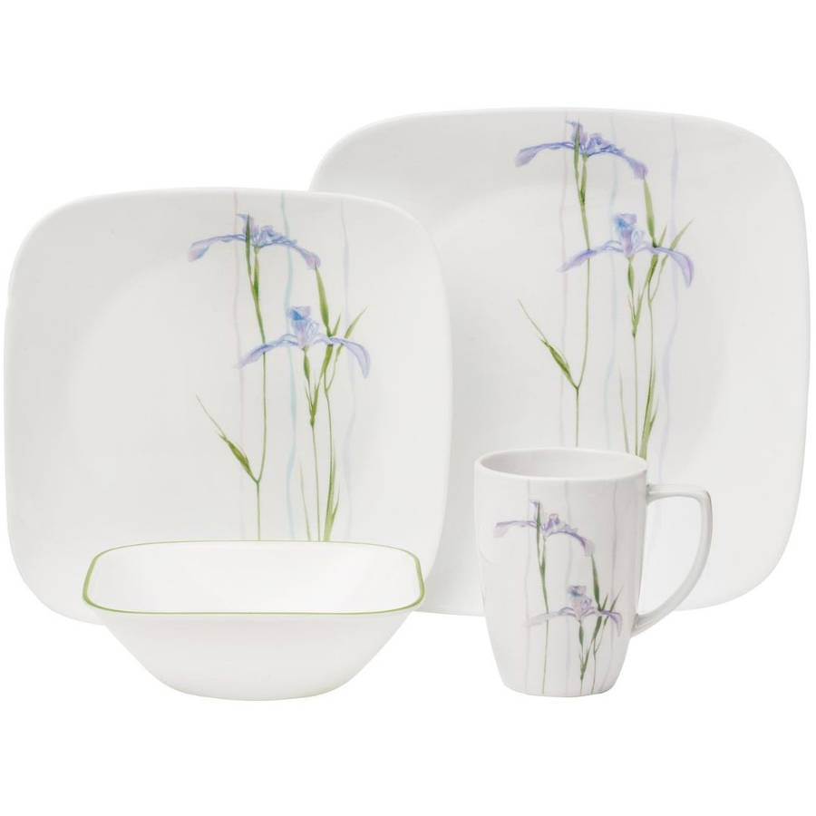 World Kitchen 1085645 Shadow Iris Square Dinnerware 16-Piece Set  sc 1 st  Walmart & nonConfig