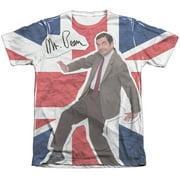 Mr Bean Flag (Front Back Print) Mens Sublimation Shirt