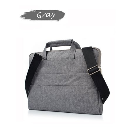 "IClover 13 13.3"" Multi-functional Business Briefcase Sleeve/Messenger Bag/ Shoulder Bag/Handbag for Acer / Asus / Dell / Fujitsu / Lenovo / Hp / Samsung / Sony (Gray Lines)"