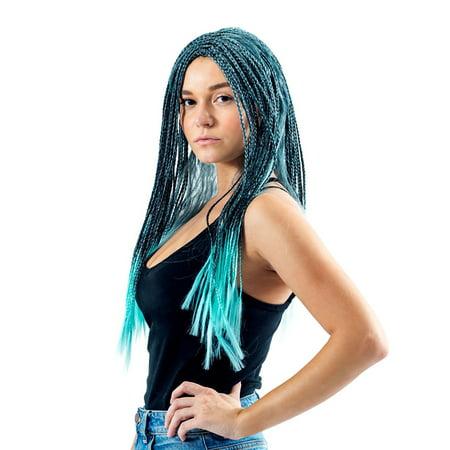 Adult Deluxe Descendants 2 Uma Cosplay Costume Wig (Halloween Costume Blue Wig Ideas)