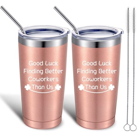 2 Pack Good Luck Finding Better Coworkers Than Us, Coworker Leaving Gifts for Women, Funny Coworkers Going Away Farewell Goodbye Job Change New Job Gifts, 20 oz Tumbler Cup Mug with Lid and Straw 2 Pack Good Luck Finding Better Coworkers Than Us, Coworker Leaving Gifts for Women, Funny Coworkers Going Away Farewell Goodbye Job Change New Job Gifts, 20 oz Tumbler Cup Mug with Lid and Straw
