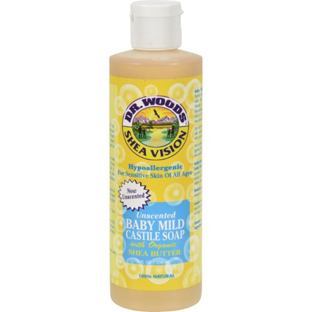 Dr. Woods Shea Vision Pure Castile Soap Baby Mild with Organic Shea Butter - 8 fl
