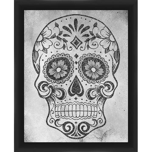 PTM Images Decorative Gray Skull Framed Graphic art