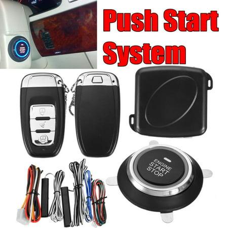 9PCS Car SUV Alarm Systerm Engine Push Start Button Ignition Starter Keyless Entry Start Stop Immobilizer