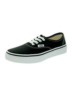 Vans  Kid's Authentic Black/True White Skate Shoe