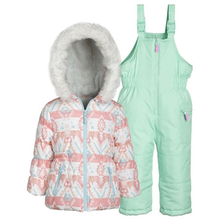 619b85d8bd9f Carter s - Carter s Little Girls Puffer Jacket and Snow Bib Snowsuit ...