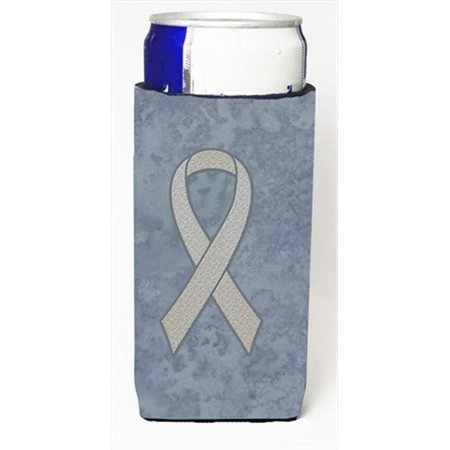 Clear Ribbon for Lung Cancer Awareness Michelob Ultra bottle sleeves for slim cans  12 Oz. - image 1 de 1