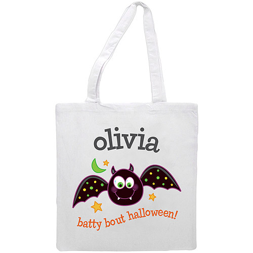 Personalized Batty Bout Halloween Treat Bag