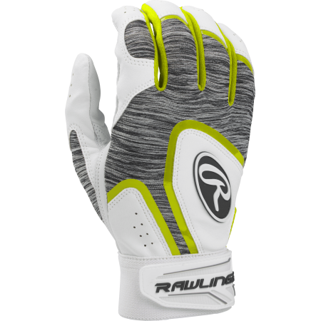 Rawlings Adult 5150 Batting Glove, Optic (Gray Batting Gloves)