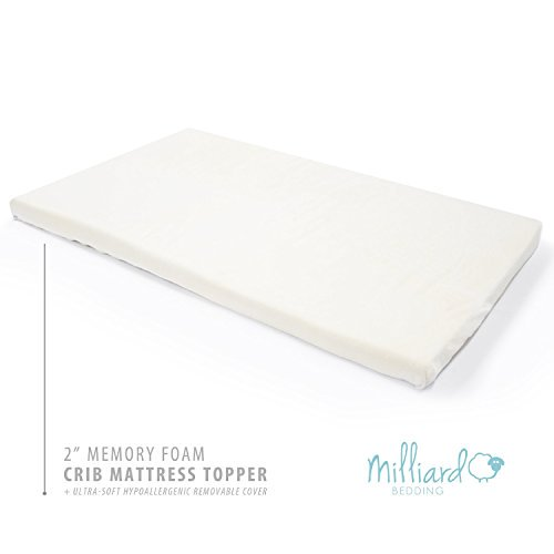 Milliard 2 Inch Memory Foam Crib Mattress Topper Toddler Bed