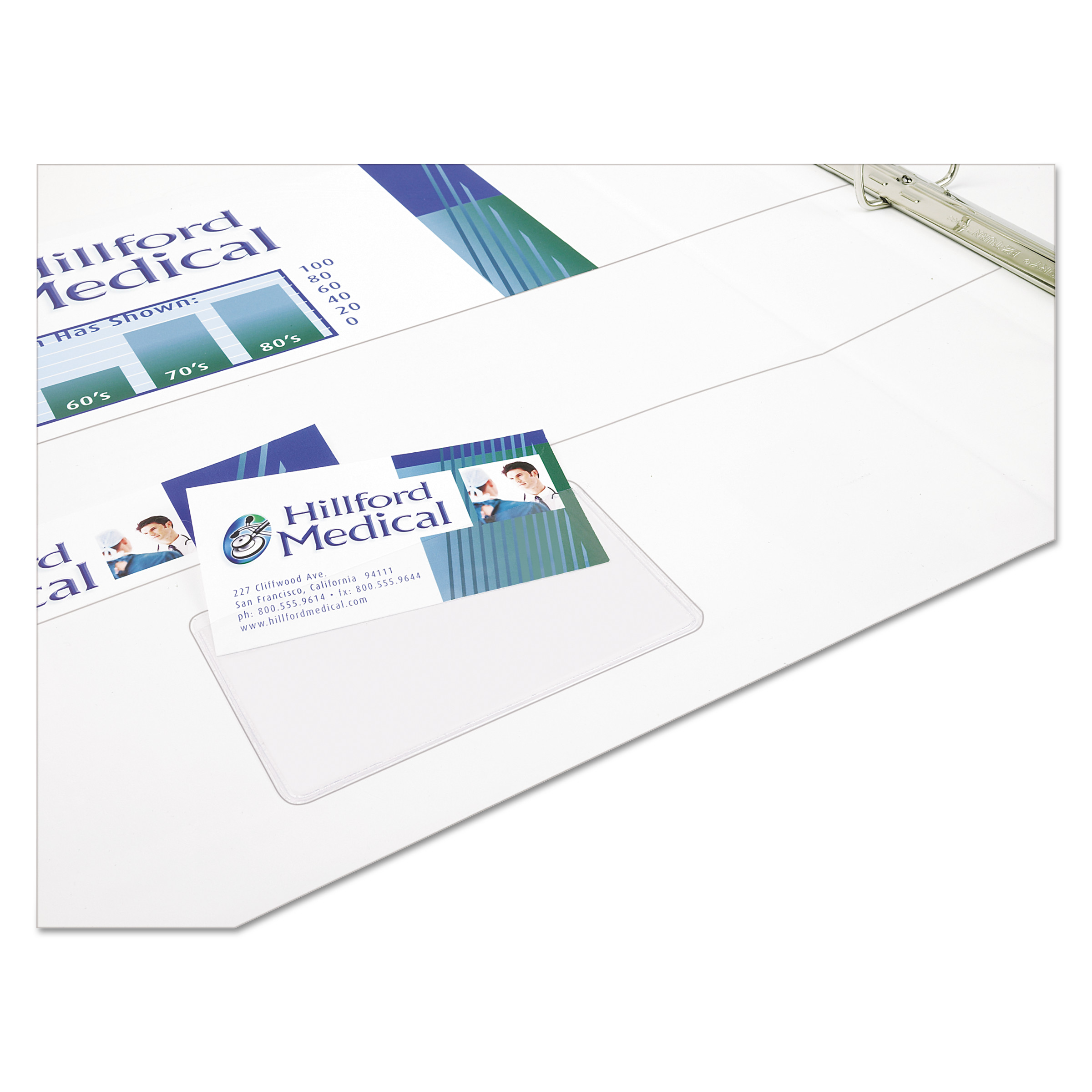 Avery(R) Self-Adhesive Business Card Holders 73720, Pack of 10 ...