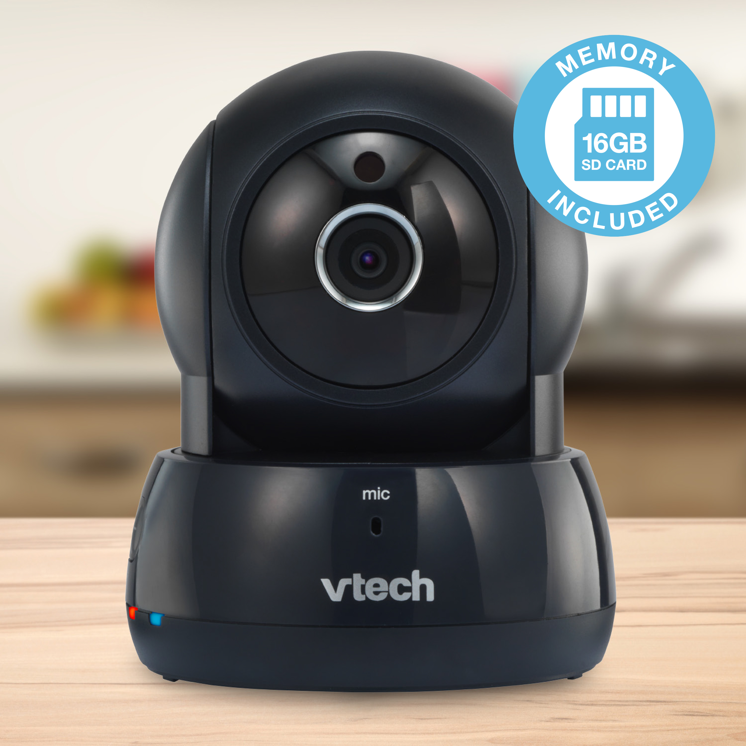 VTech VC9311-122 16GB Wi-Fi IP Video Camera with Remote Pan & Tilt, Free Live Streaming and Automatic Infrared Night... by VTech