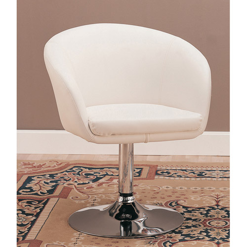 Coaster White Leisure Swivel Chair