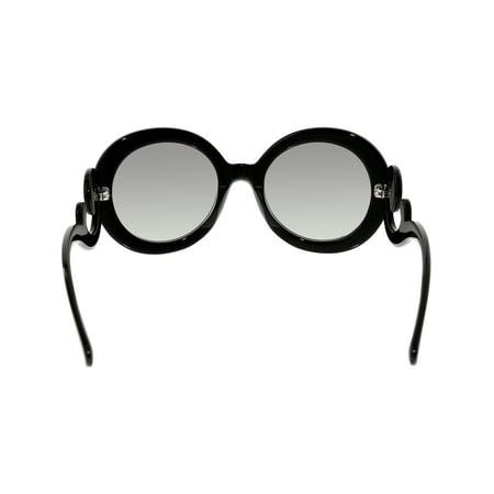 0b5f4fdf6 Prada Women's Gradient PR27NS-1AB3M1-55 Black Round Sunglasses - image 1 ...