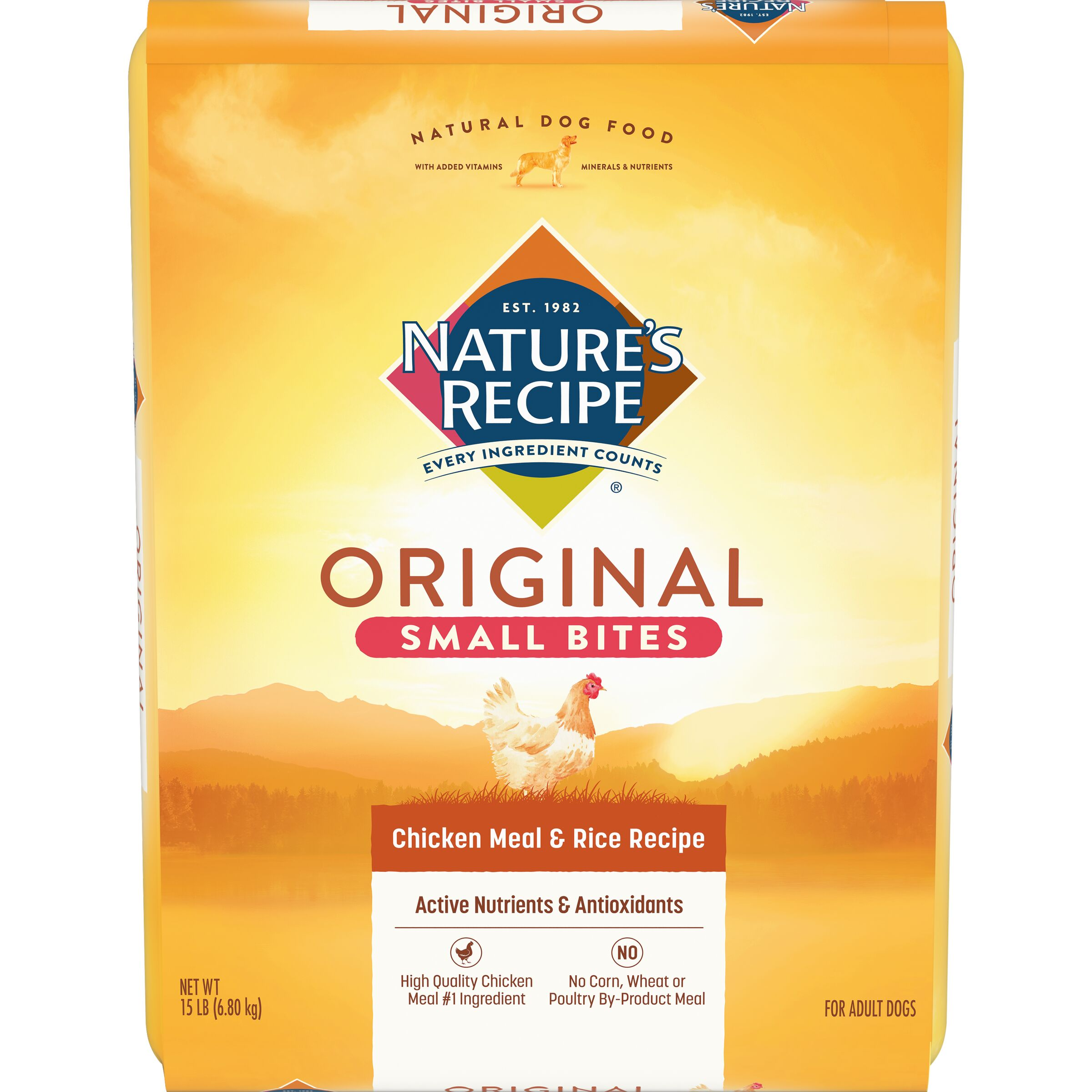 15-Pound Nature/'s Recipe Small Bites Chicken Meal Rice Recipe Dry Dog Food