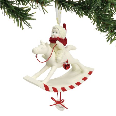 Dept 56 Snowbabies 6001888 Peppermint Pony Ornament Dated 2018